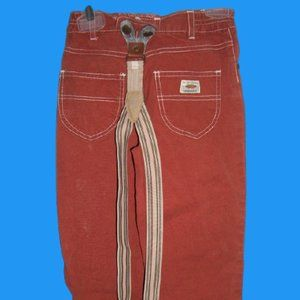 Vintage Pants with Suspenders Boy Size 5